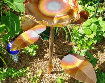 Lilly Pad shaped Birdbath SOLID COPPER Bird Bath ------ FREE Shipping to U S Zip codes