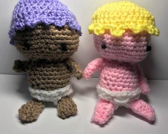 two Cute Crochet Babies
