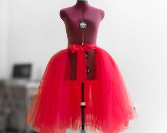 Red tutu Tulle skirt  Detachable overskirt Layered skirt Wedding skirt Prom skirt Bridesmaid's skirt Maxi skirt Full skirt Custom skirt