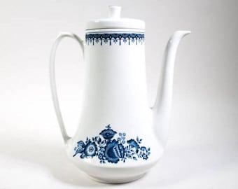 Vintage teapot coffeepot, Royal Sphinx Petrus Regout Porcelain coffee pot
