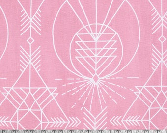 Wander by Joel Dewberry for Free Spirit - Native - Pink - Fat Quarter - FQ - Cotton Quilt Fabric