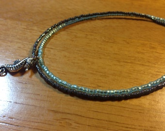 Seahorse Charm Double Strand Anklet