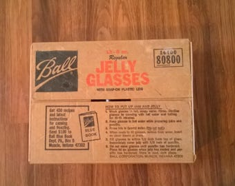 Case of 12 1960s 8 oz. Ball Jelly Glasses