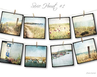 Set of eight postcards 14x14cm - series Houat
