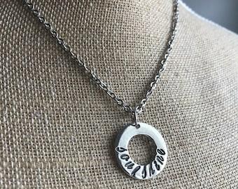 Soulshine Necklace - Soul Shine Necklace - Circle Necklace - Washer Necklace