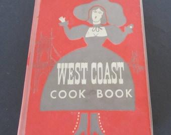 Vintage Cook book 1952 West Coast Cook Book Cookbook, Vintage Recipes, Old Cookbook 1950s