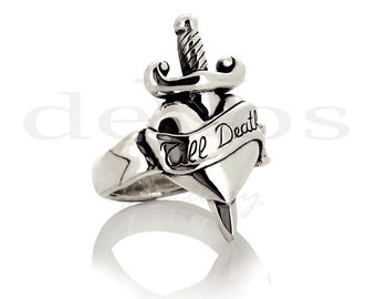 Heart Ring - Tattoo Ring - Till Death Ring