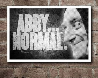 "YOUNG FRANKENSTEIN - IGOR ""Abby... Normal"" Quote Poster"