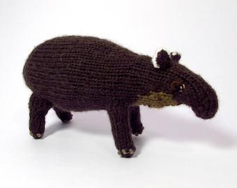 Knit Baird's Tapir