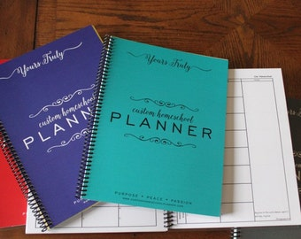 2018-19 Student Planner, 40 weeks, Homeschool Student Planner, Academic, School, Planner, Elementary Planner, Weekly Lesson Plans