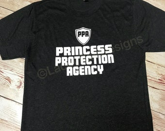 Princess protection agency youth or adult triblend tee, crew neck , color options, boys tee, Dad or Boys disney shirt, Family Disney