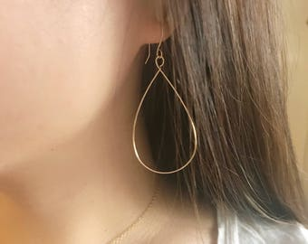 Tear Drop Earring/ Gold Filled or Sterling Silver / Anabel Nove