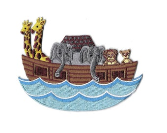 Noah's Ark - Bible - Scripture - Bible School - Holy Bible  - Scriptures - Pray - Religion - Faith - Iron On Applique Patch