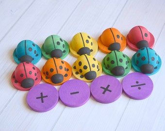 Montessori Toddler Toys, Educational Toys, Wooden Toddler Toy, Preschool Learning, Numbers Counting Toy, Toddler Gift, Color Sorting Toy