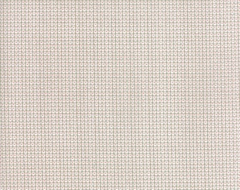 Project Red (5689 14) White Taupe Square Dot by Sweetwater