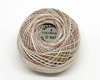 Valdani Pearl Cotton Thread Size 8 Variegated: #O545 Primitive White