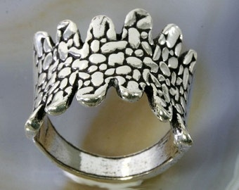 Ring, massive and beautiful in 925 sterling silver - 1142