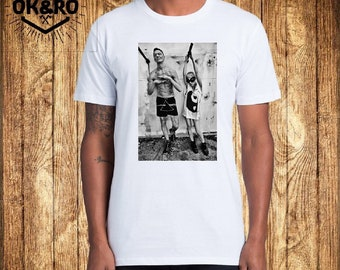 Die Antwoord Men's T-shirt print on fabric handmade author's work Workout Tanks Gift for him Traveler cotton white unisex T-shirt with print