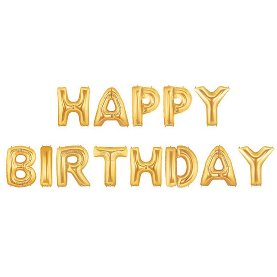 Happy Birthday Letter Balloons Happy Birthday Banner