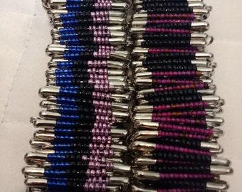 Multicolored Saftey Pin Bracelets