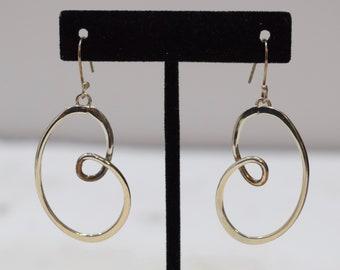 Earrings Sterling Silver Loop Dangle Earrings 56mm