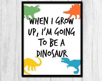 Cute Kids Room Decor Dinosaur Printables