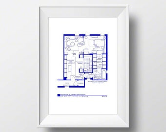 Stunning fictional famous tv show floor plans by tvfloorplans carrie bradshaw apartment art tv show floor plan for sex and the city blueprint malvernweather Gallery