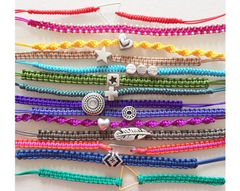 Colorful friendship bracelets set