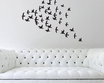 Flock of Birds Wall Decal - Wall Sticker, Vinyl Wall Art, Home Decor, Wall Mural