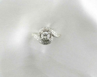 Diamond Engagement Ring, Cocktail Ring, Right Hand Ring, Circa 1950's, Old European Cut Diamond Ring, 1/2 Carat Diamond