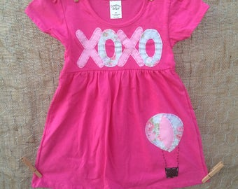 XOXO Valentine Dress with hot air balloon