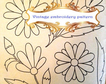hand embroidery patterns pdf Hand embroidery patterns floral Vintage embroidery pattern Vintage embroidery kit Vintage embroidery transfer