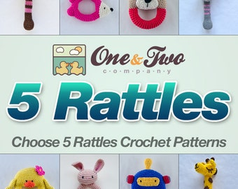 Combo Pack - Choose 5 Rattles for 17,50 Dollars - PDF Crochet Pattern - Special Offer Pattern Pack