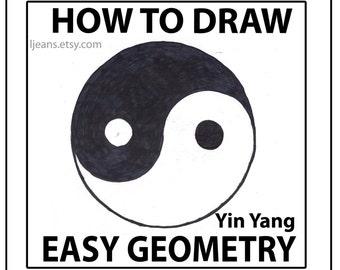 How to Draw Easy Geometry Yin Yang Tutorial