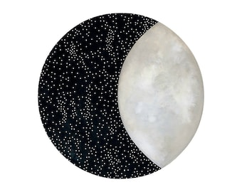 Moon and Stars 12 - Archival 8x10 Art Print - Contemporary Watercolor Painting - Astronomy, Night Sky - by Natasha Newton
