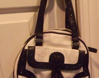 Pocketbook Purse White and Black