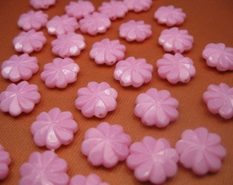100 Vintage Swirled Pink Lucite Beads