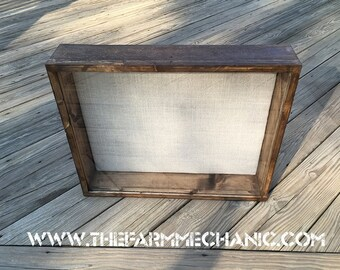 Large Shadow Box - 24x20x3 Rustic Display Case | Artisan Rustic Collection