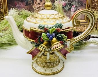 Fitz and floyd Christmas Deer teapot