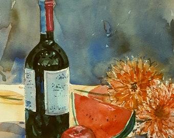 Still life : Original Watercolor Painting