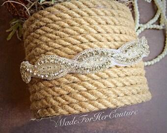 Bridal Headpiece, Silver Wedding headband, Bridal Headband, Wedding Headpiece, Rhinestone Headpiece
