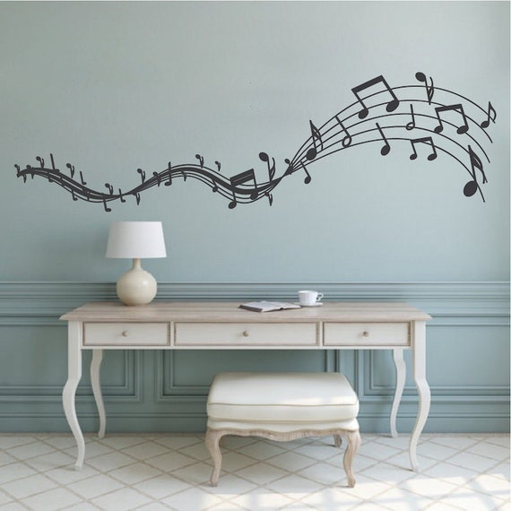 Music Melody Wall Decal Musicians Wall Art Removable Music