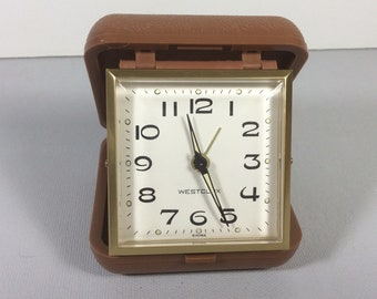 Westclox travel alarm clock excellent condition 1970s.