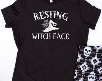 Resting Witch Face, Halloween T Shirt, Halloween Tees, resting witch face shirt,Halloween Shirts for Women,halloween t-shirt,halloween shirt