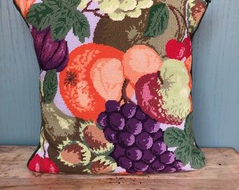 Vintage Embriodery Fruit Cushion