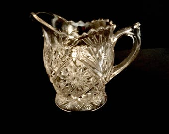 Crystal Cut Glass Creamer    GC2972
