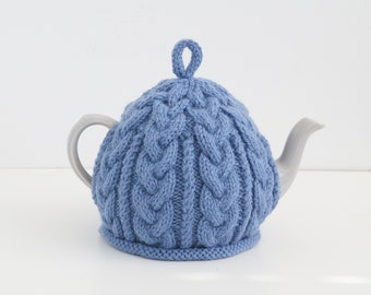 Knitted Tea Cozy Med Blue - BAILEY