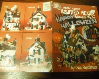 Halloween Plastic Canvas Haunted House American School of Needlwork 3064 Don Franzmeier Pattern Leaflet