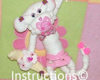 How to make a BABY DIAPER MONKEY Instructions 4 baby gift, centerpiece, or just to make someone smile.