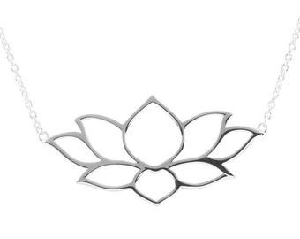 Holding The Light Lotus Necklace